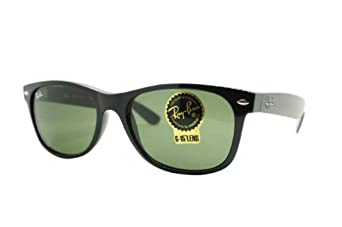 Ray-Ban RB2132 New Wayfarer  Sunglasses,Black Frame/G-15-XLT Lens,55 mm