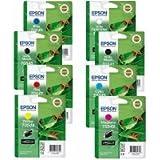 *Multi Pack* Originals ** Epson Stylus Photo & Pro  Ink Cartridges For R800/R1800/4000/9600 T0540/T0541/T0542/T0543/T0544/T0547/T0548/To549