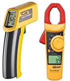 FLUKE 902/62 TRUE RMS HVAC CLAMP METER WITH MINI IR THERMOMETER COMBO