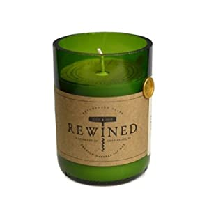 Recycled Wine Bottle 60-80 Hour Soy Wax Candle - Riesling