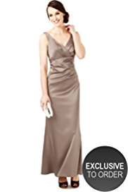 M&S Collection Crossover V-Neck Pleated Maxi Dress