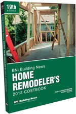 BNI Home Remodeler's Costbook 2013 - BNI Publications - BN-Home-Remodel - ISBN: 1557017689 - ISBN-13: 9781557017680