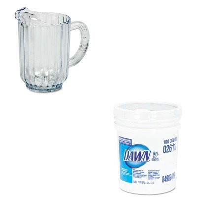 KITPAG02611RCP333800CR - Value Kit - Rubbermaid Bouncer Plastic Pitcher (RCP333800CR) and Dawn Dishwashing Liquid (PAG02611)