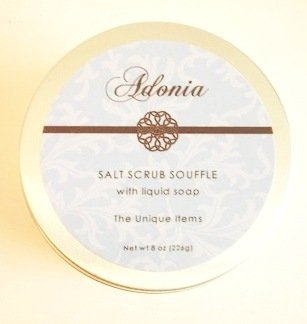 Adonia Waterlily & Lotus Salt Scrub Soufflé - 8 oz.