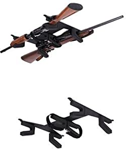 Big Sky BSR-2 Horizontal Non-Locking 2 Gun Rack, Black Finish by Big Sky