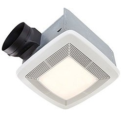 Broan Model QTXE080FLT 80 CFM 36 Watt Fluorescent Lighting Ultra Silent Bath Fan/Light