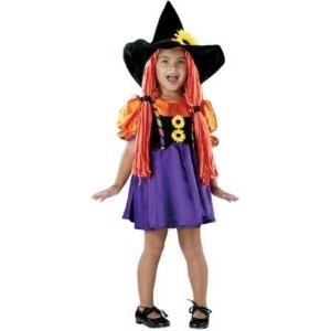 TODDLER or CHILD Autumn Witch with Hat and Hair Yarn Babies Costume