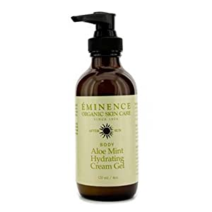 Eminence Organic Skincare After Sun Body Aloe Mint Hydrating Cream Gel, 4 Ounce