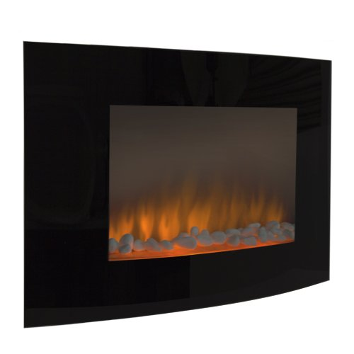 Nicest Choice Products® Electric Wall Mount Fireplace 1500W Heat Adjustable Heater Glass XL Large