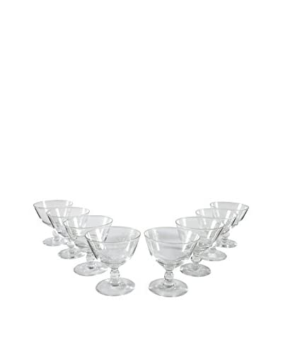 Set of 8 Coupe Cordial Glasses