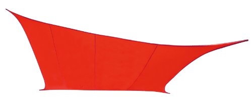 Kookaburra Red Waterproof Shade Sail - 5.4m Square - Gazebo Sail Awning Canopy