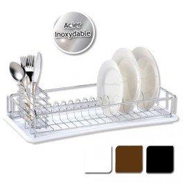 Egouttoir vaisselle avec plateau blanc cuisine maison - Petit egouttoir vaisselle ...