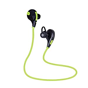 Bestfy Bluetooth 4.1 Wireless Sports Headphones Noise Cancelling Sweatproof In-ear Stereo Earbuds Earphones with Microphone for iPhone iPad iPod and Android Devices (Green)