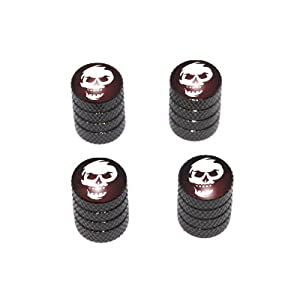 Skull Abstract - Tire Rim Valve Stem Caps - Black