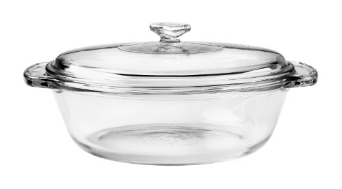 Anchor Hocking 77890 Glass Casserole With Cover, 1.5-Quart