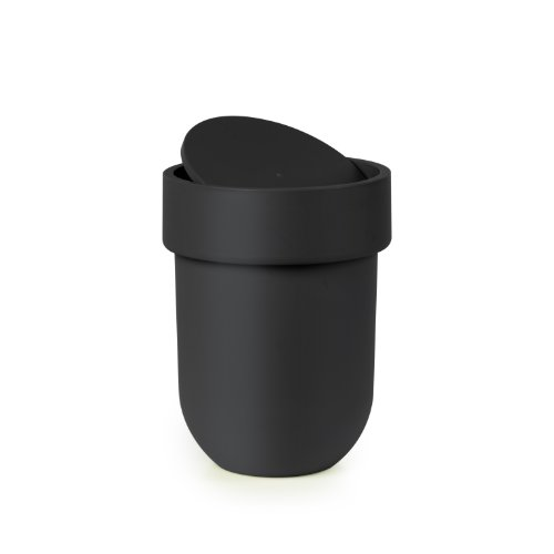 Umbra Touch Waste Can with Lid, Black