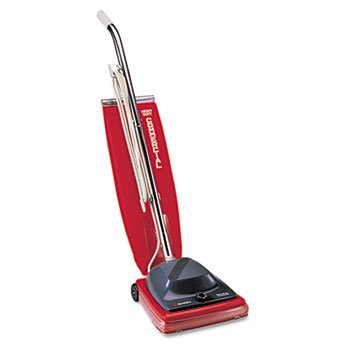 Sanitaire Commercial Upright Vacuum W/Vibra-Groomer Ii, 16 Lbs, Red