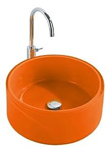Wenko 18919100 vasque salle de bain tropic orange amazon for Accessoires salle de bain couleur orange