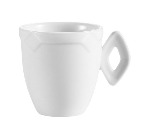 CAC China TMS-35 Times Square 3.5-Ounce Super White Porcelain A.D. Cup, 2-1/4-Inch, Box of 36