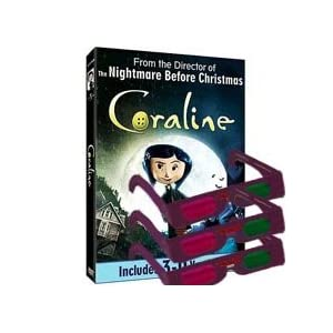 New Releases Amazon: Coraline 3D GLASSES Only - for Blu-Ray