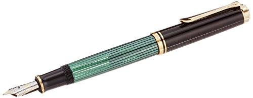 PELIKAN Souveran M800 Fountain Pen- Extra Fine, Black/Green (995670) (Fountain Pen Pelikan Extra Fine compare prices)