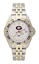 Georgia Bulldogs Mens All Star Sterling Silver Bracelet Watch