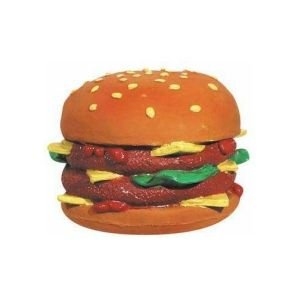 Pet Supply Imports Double Cheeseburger Latex 6in Dog Toy