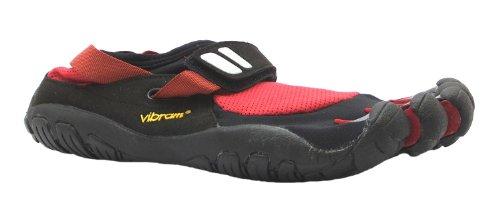 Men's Treksport Vibram Five Fingers Red/black Velcro Barefoot Running Trainers