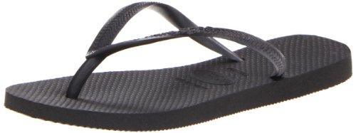 Havaianas Women's Slim Sandal Flip Flop, black, 41 BR/11/12 W US