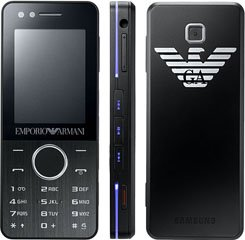 Samsung M7500 Emporio Armani Mobile Phone on Vodafone PAYG