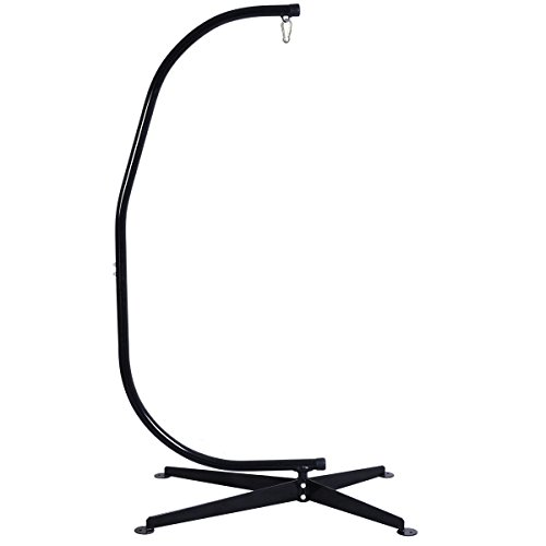 Giantex C Hammock Frame Stand Solid Steel Construction Hammock Air Porch Swing Chair (Hammock Stand Chair compare prices)