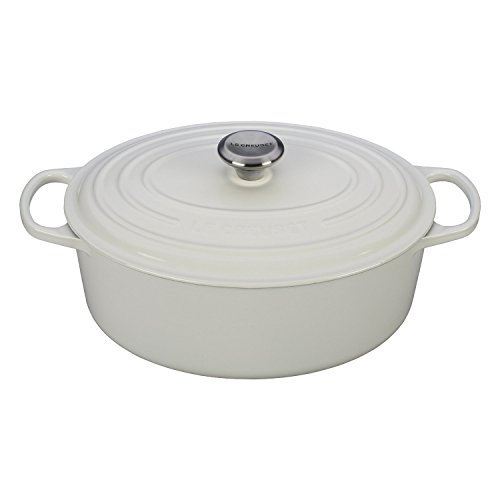 Le Creuset Signature White Enameled Cast Iron 5 Quart Oval Dutch Oven (Small Oval Dutch Oven compare prices)