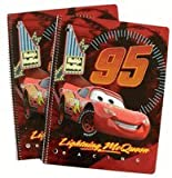Disney Pixar CARS Notebooks - 2 pcs set Lightning McQueen Stationery
