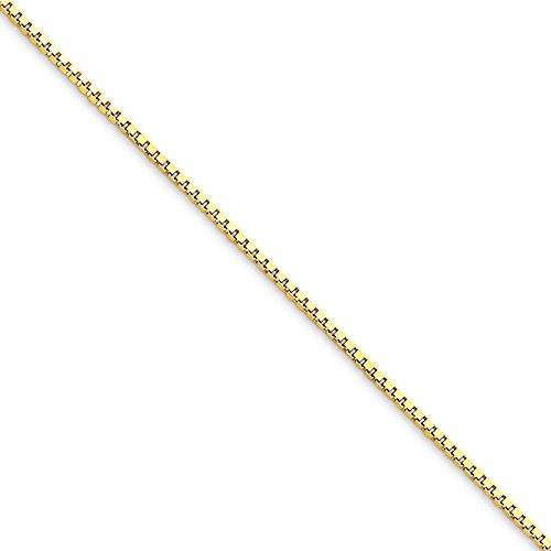 10k Yellow Gold 30in 1.10mm Box Necklace Chain