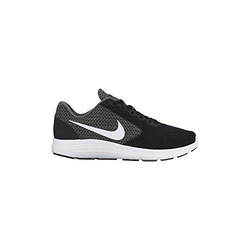 Men's Nike Revolution 3 Running Shoe Dark Grey/Black/White Size 9.5 M US
