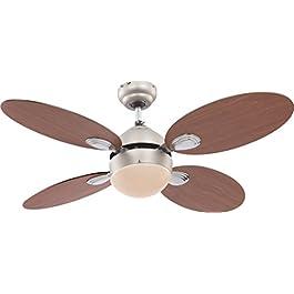 Globo Wade - Ventilatore da soffitto in nichel opaco