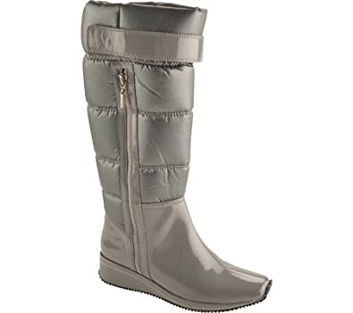 Antia Shoes Women's Nordika Casual Shoes,Dark Grey Patent/Nylon,6 M US