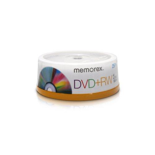 Memorex 4x DVD+RW 25 Pack Spindle