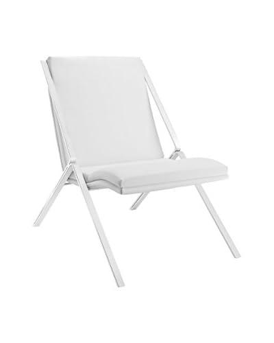 Modway Swing Vinyl Lounge Chair, White