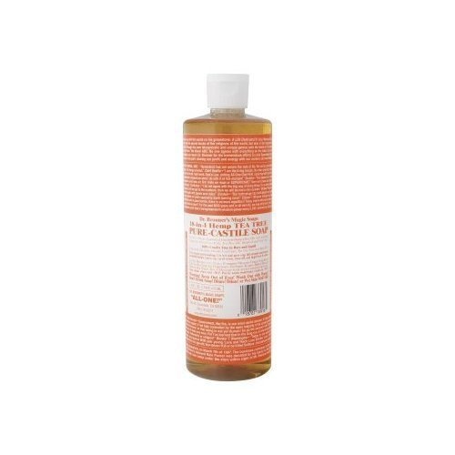 DR BRONNERS TEA TREE LIQUID CASTILE SOAP -16OZ - O/S - N/A