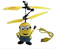 Theme My Party - Minion Bob IR Controlled Flying Aircraft With LED Light Gravity Sensor
