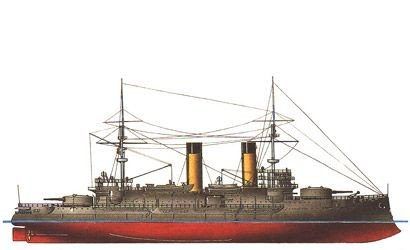 Zvezda 1/350 Borodino Russian Battle Cruiser Battle of Tsushima 1905 Kit