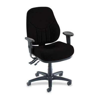 Lorell Baily Series High-Back Multi-Task Chairs, Black