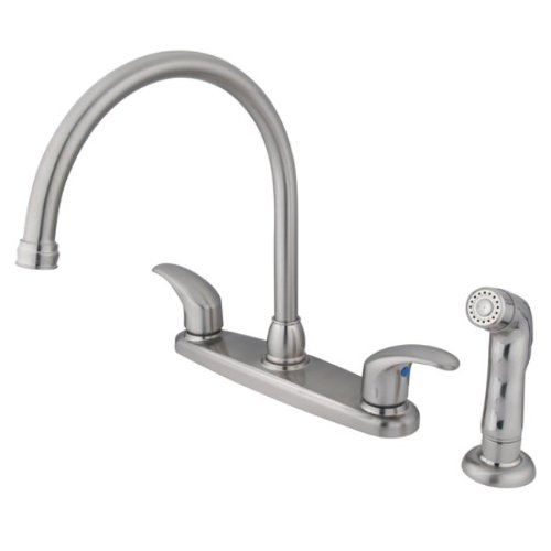 Kingston Brass Kb6798llsp Legacy 8 Inch Goose Neck Spout Kitchen Faucet With Matching Finish
