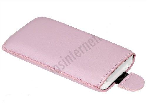 M0321 Slimcase Handytasche Ledertasche Leder Handyhülle SL Pink für Samsung Galaxy Trend Plus (GT-S7580)