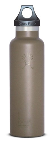 Hydro Flask Insulated Stainless Steel Water Bottle, Standard Mouth, Desert Tan/Tactical, 21-Ounce/Medium front-677265