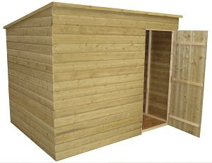Garden shed 7x4 pent roof shiplap tanalised no windows for Garden shed 7x4