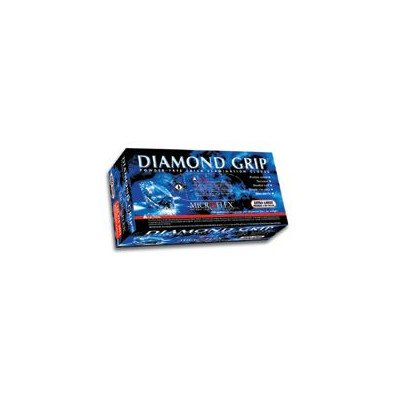 "Natural 9.8"" Diamond Griptm 6.3 Mil Latex Ambidextrous Non-Sterile Powder-Free Disposable Gloves With Textured Fingers Finish And Beaded Cuffs (100 Each Per Box)"