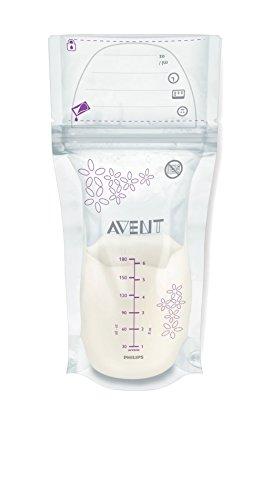 Philips AVENT SCF603/25 - Bolsas para almacenaje de leche materna de 180 ml, con sistema de cierre de seguridad
