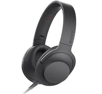 SONY h.ear on密閉型ヘッドホン ハイレゾ音源対応 リモコン・マイク付 折りたたみ式 チャコールブラック MDR-100A/B